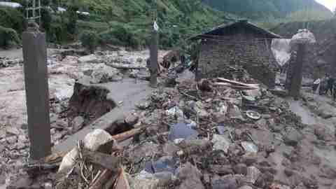 Nepal:At least 2 dead and more than 8 missing in flood and landslide incident in Baglung.