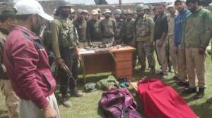 The bodies of two Hizbul Mujahideen militants recovered on Saturday from Kishanganga river near the LOC